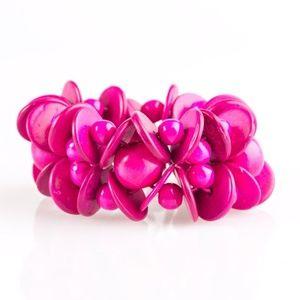 Tropical Temptress - Pink Bracelet
